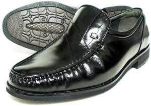 MG(Men's Gear)カンガルー革 モカスリッポン ビジネスシューズ 黒 23cm、23.5cm、24cm [小さいサイズ紳士靴・革靴/492-BLK]