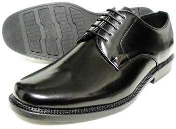 BELOUOMO プレーントゥ ビジネスシューズ 黒 4E(EEEE) 28cm、29cm、30cm【大きいサイズ(ビッグサイズ)メンズ紳士靴】