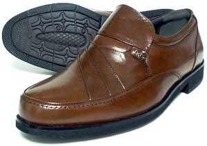 MG(Men's Gear)カンガルー革 シャーリングスリッポン ビジネスシューズ 茶色 23cm、23.5cm、24cm [小さいサイズ紳士靴・革靴/491-BR]