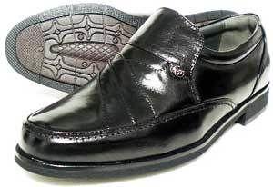 MG(Men's Gear)カンガルー革 シャーリングスリッポン ビジネスシューズ 黒 23cm、23.5cm、24cm [小さいサイズ紳士靴・革靴/491-BLK]