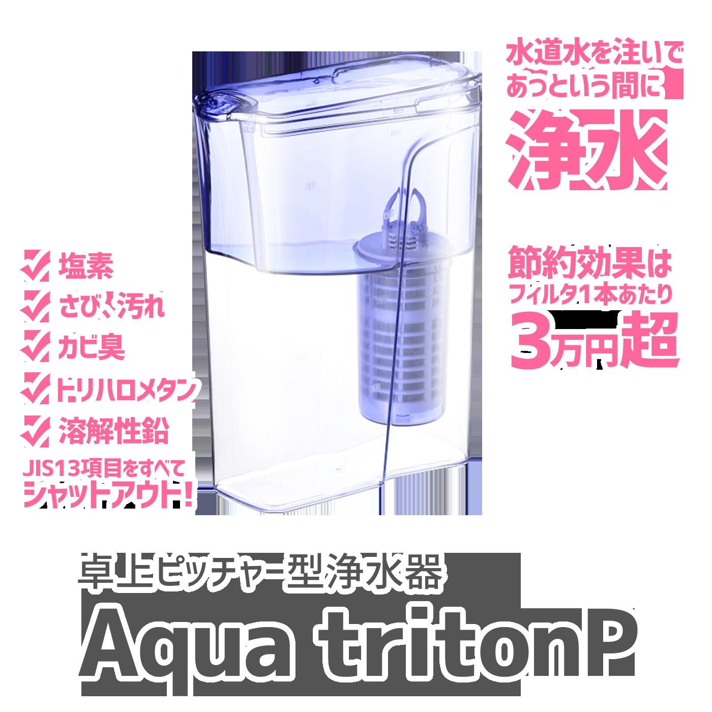 卓上ピッチャー型浄水器・アクアトリトン