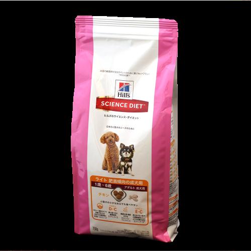 ヒルズ サイエンス・ダイエット ライト 小型犬用  肥満傾向の成犬用 750g