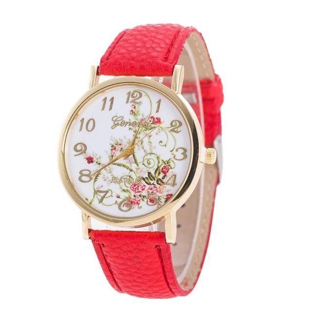 ファッションホワイト 女性ガーデン花腕時計 スポーツアナログクォーツ腕時計 139