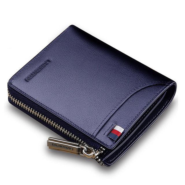 Laorentou 男性財布 本革 短い財布 高級男財布 429 7/10n30