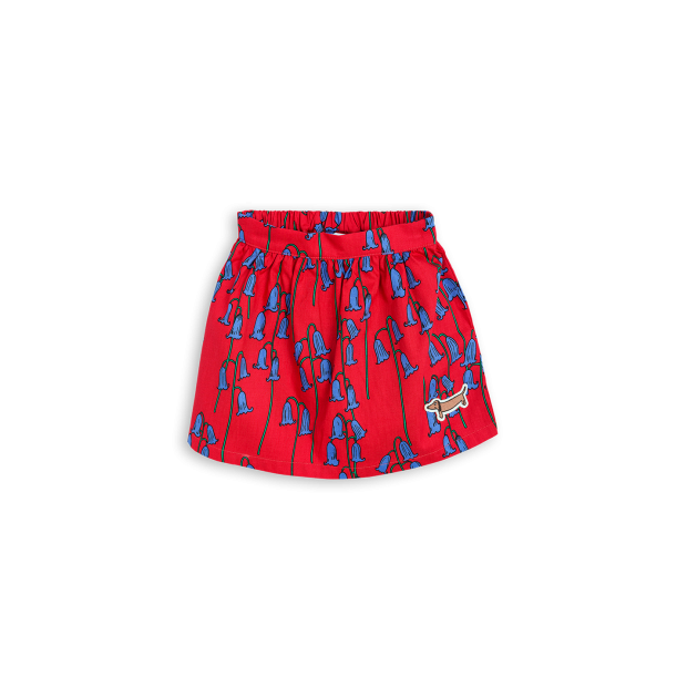 【 mini rodini 2017AW】BLUEBELL WOVEN SKIRT / Red