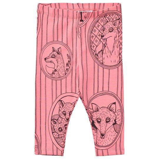 【 mini rodini 2017AW】FOX FAMILY LEGGINGS / Pink