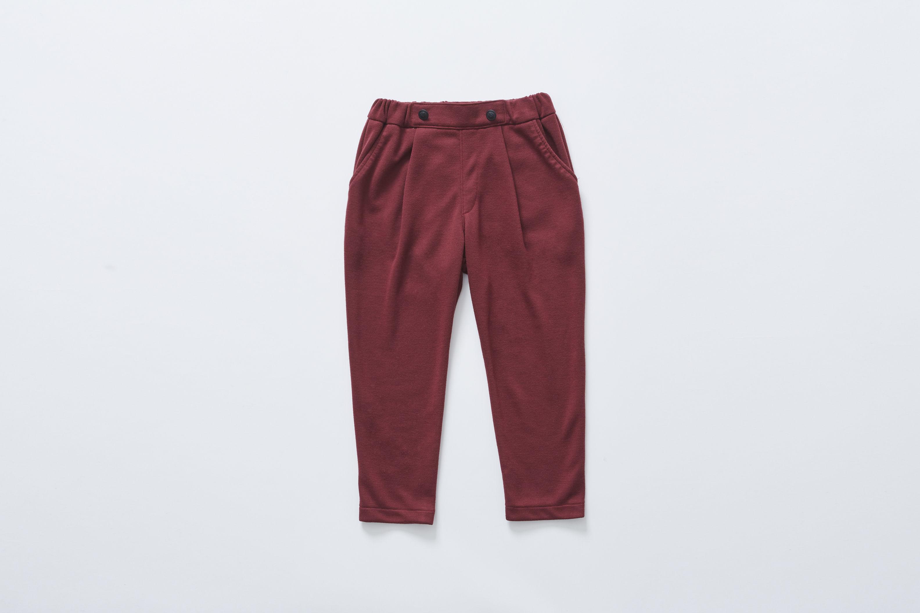 【cokitica 2017AW】cka-172J26 ponte knit pants / burgundy / 110-130cm