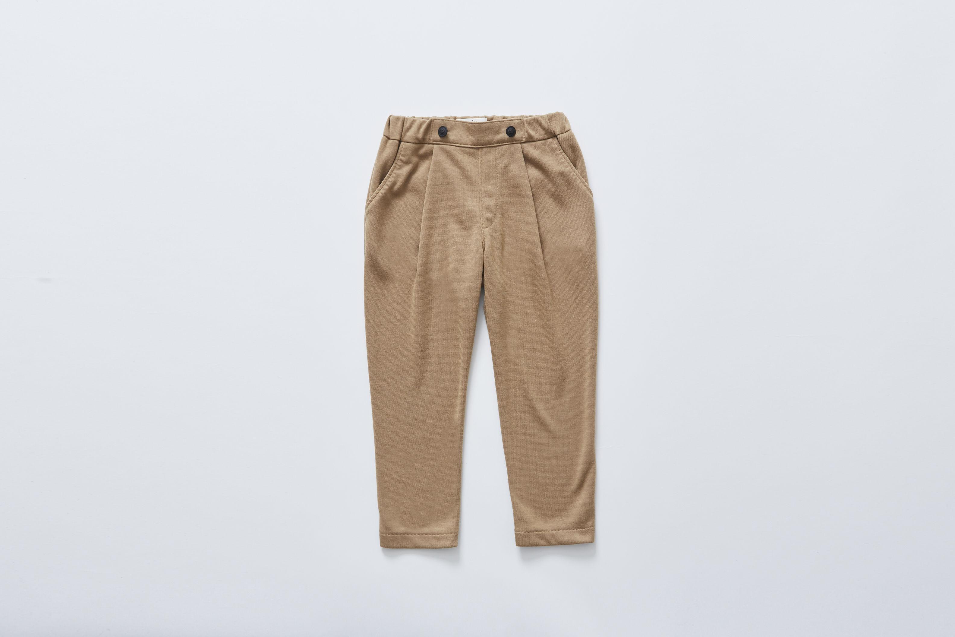 【cokitica 2017AW】cka-172J25 ponte knit pants / camel / 80-100cm