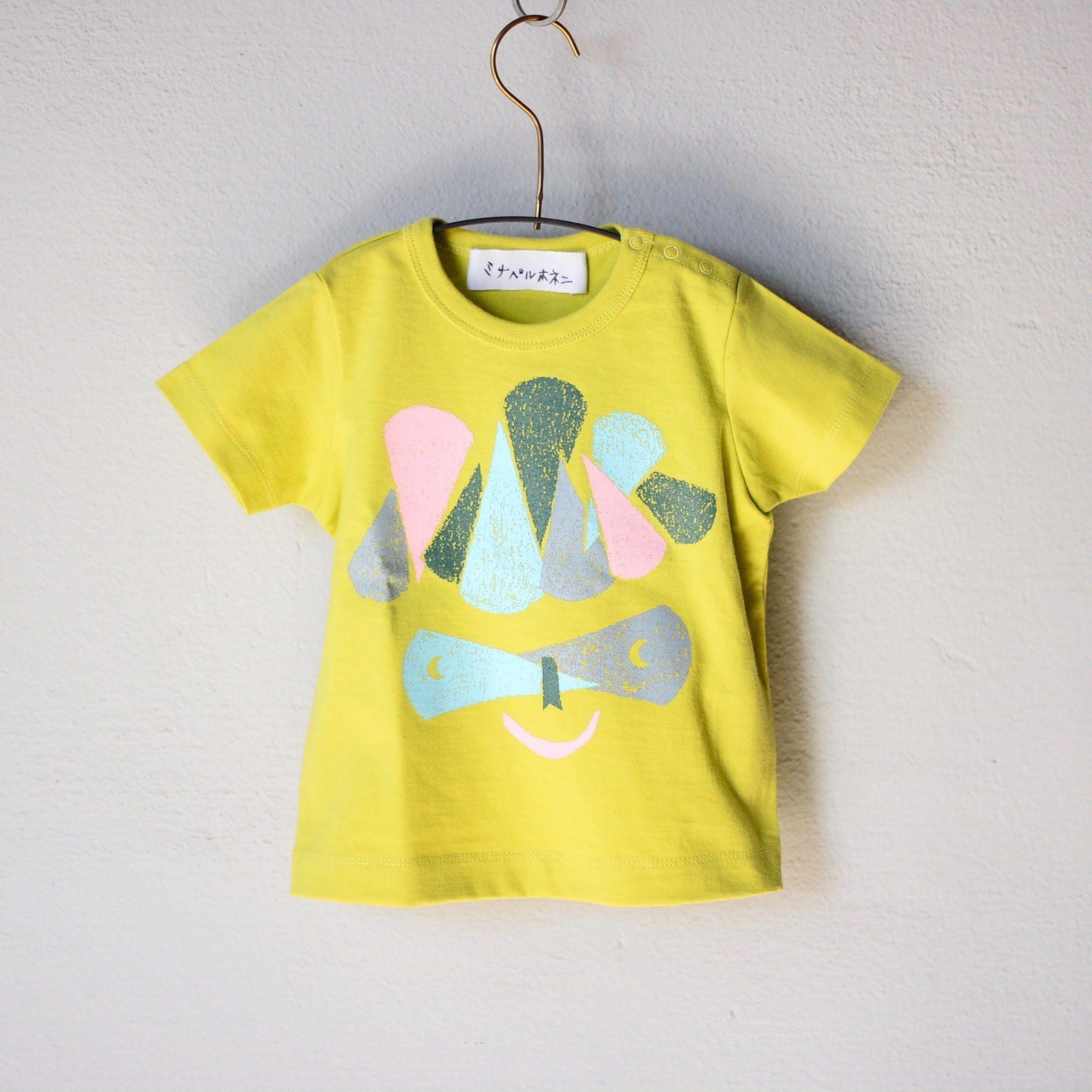 """【 ミナペルホネン 18SS 】 Tシャツ """"M.Crocus"""" / yellow  / 110-130cm  (WS8883P)"""