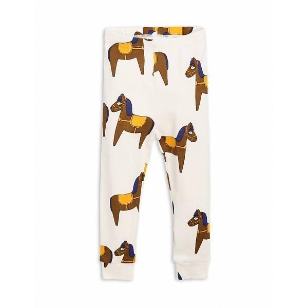 【 mini rodini 2018SS 】Horse nb leggings/ yellow / 62cm