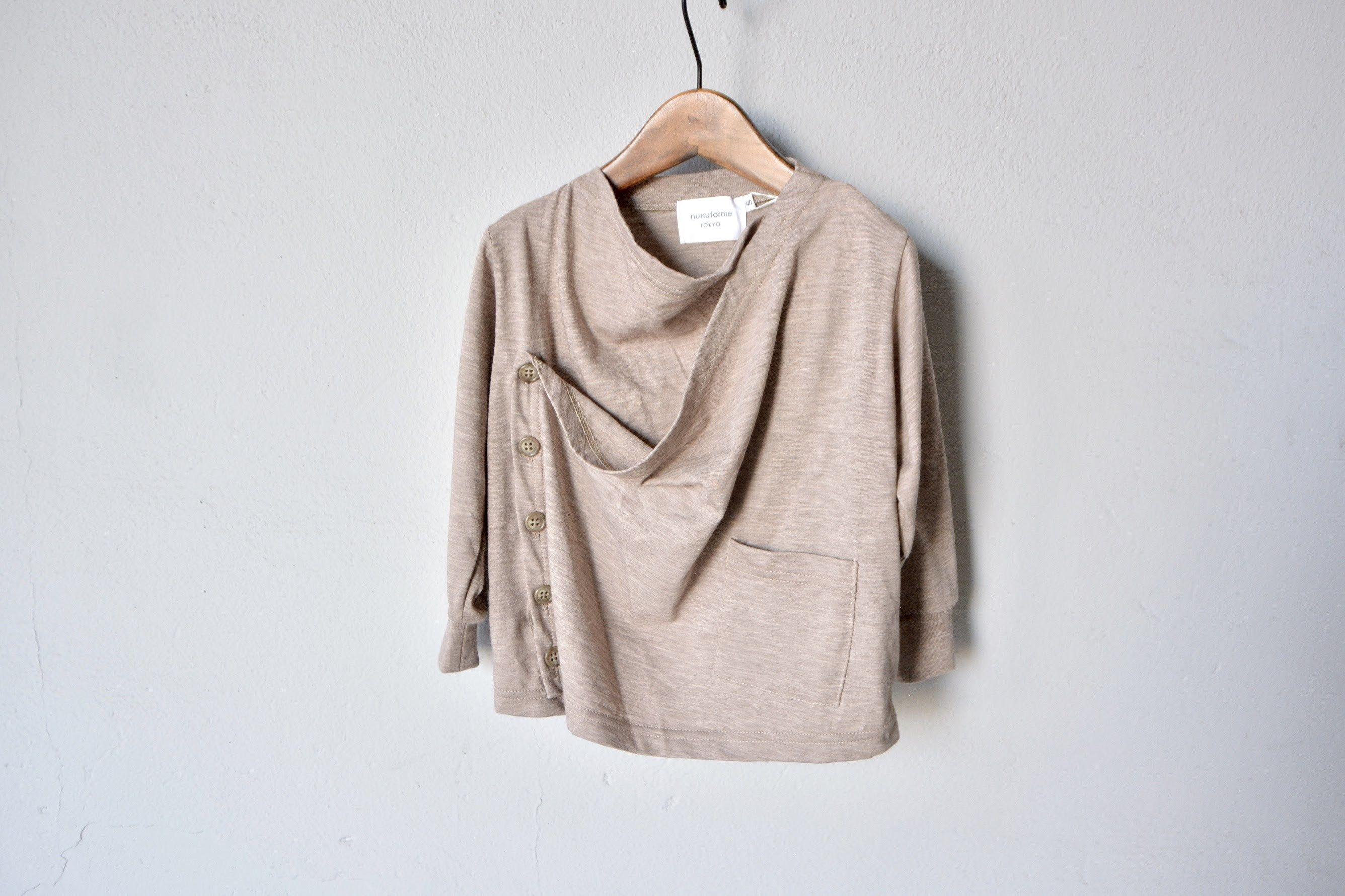 【 nunu forme 18SS 】 ドレープカーディガン (~145cm)/ beige