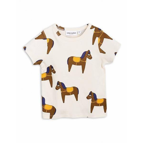 【 mini rodini 2018SS 】Horse ss tee/ yellow