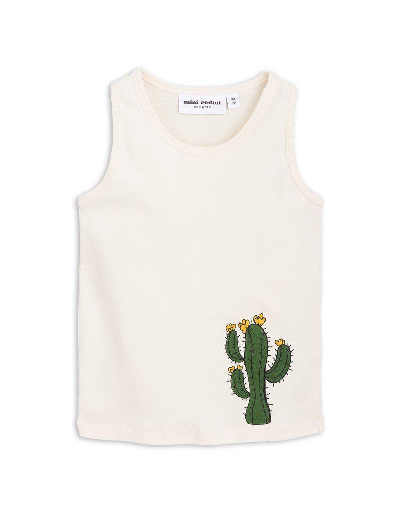 【 mini rodini 2018SS 】Cactus sp tank / offwhite