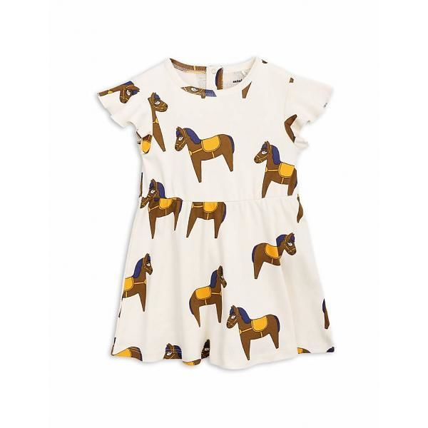 【 mini rodini 2018SS 】Horse dress / yellow
