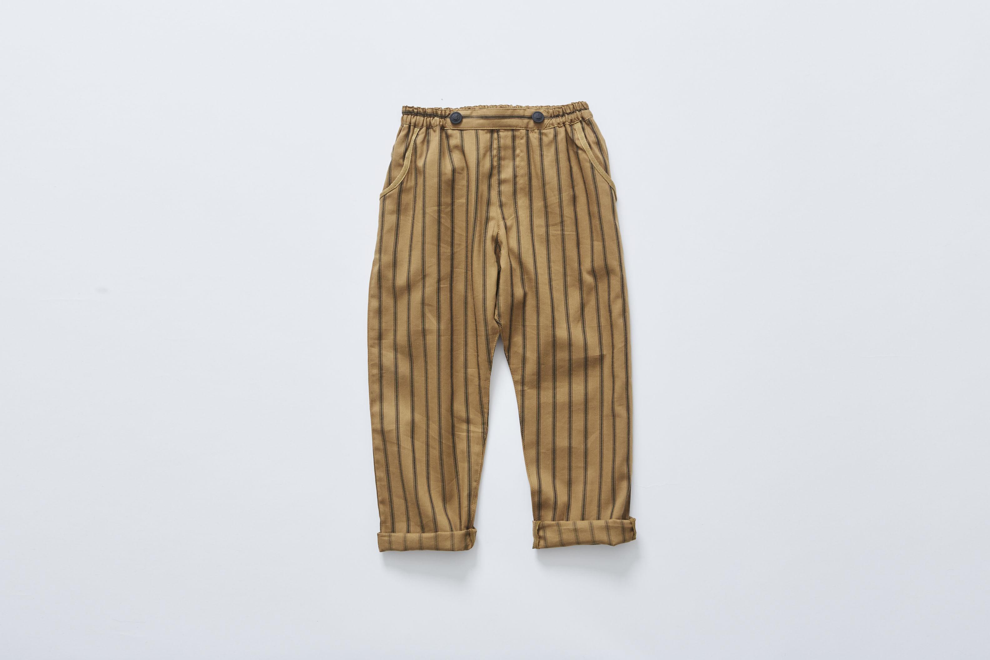 【cokitica 2017AW】cka-172F03 stripe pants / camel / 110-130cm