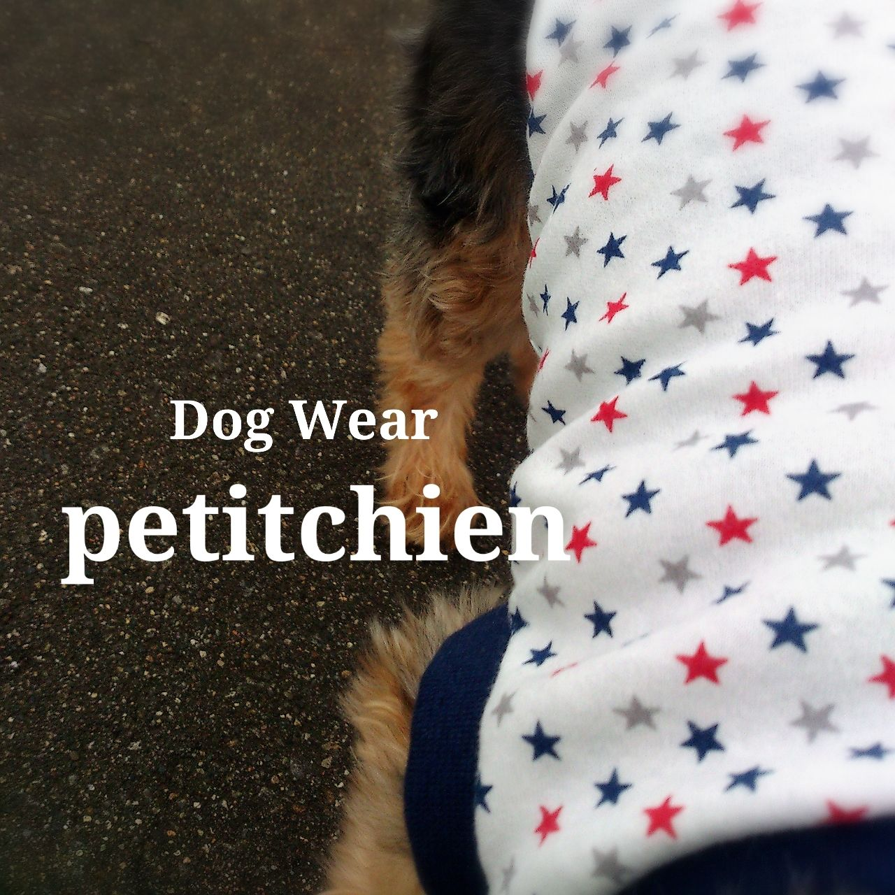 犬服★完成品 【   トリコカラー 星柄  】ネイビー 胴まわり35cm