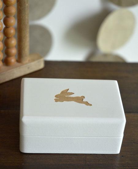 LITOLFF / 乳歯入れ  (one hare / white)