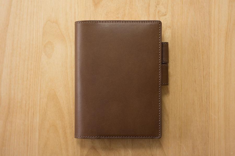 革のほぼ日手帳カバー・ポケット付き カラーヌメ・チョコ