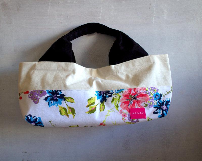 柄は画像通り!boat shape tote bag / stella