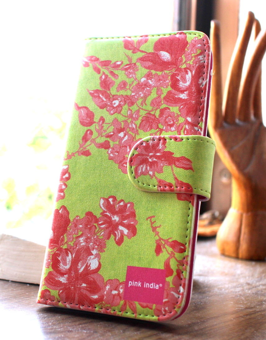 iphone5C用手帳型ケース Herbal garden