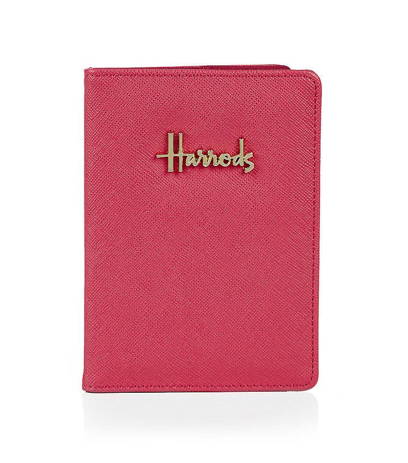 [Harrods] ハロッズ ノヴェッロ パスポートケース / カードケース パスケース (デザインピンク)