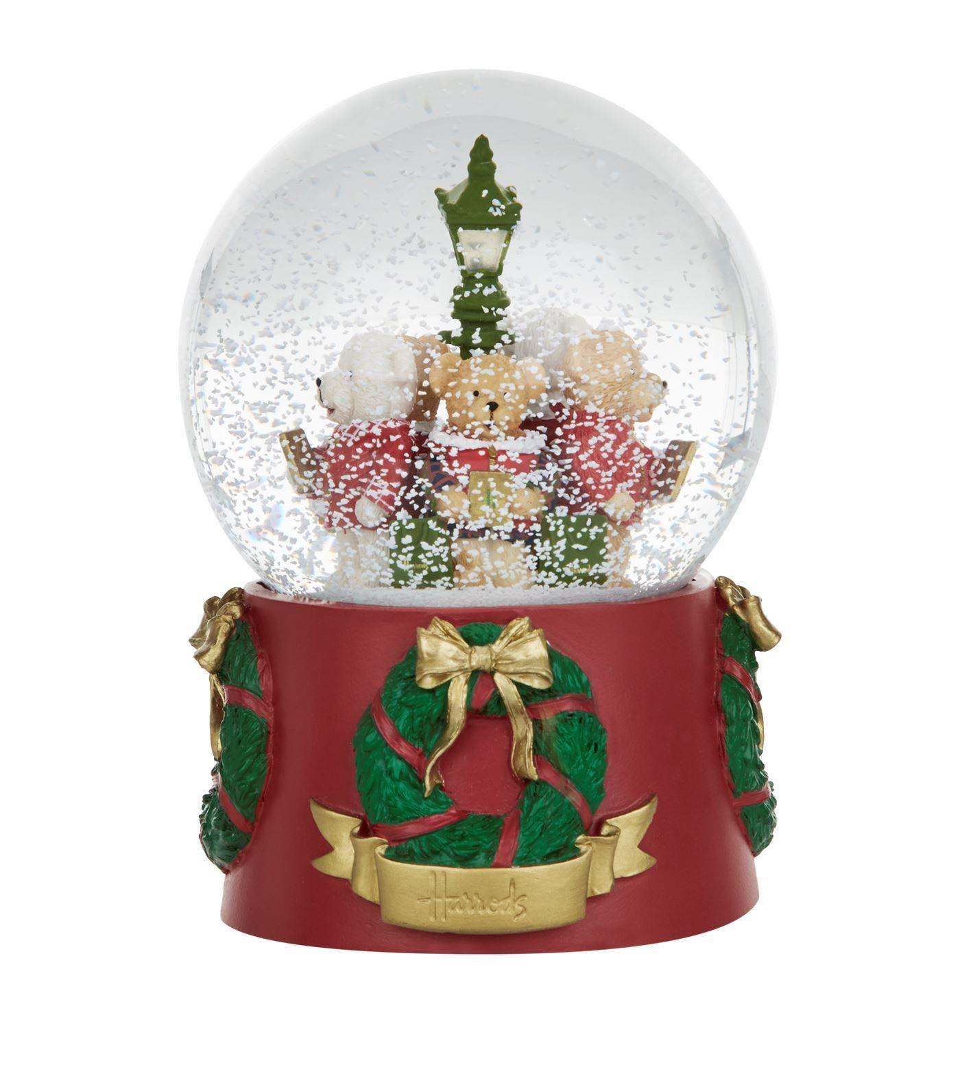 [Harrods] ハロッズ 2017年限定 クリスマス テディベア スノードーム ライトアップ機能付き / Christmas Bear Light Up Snow Globe