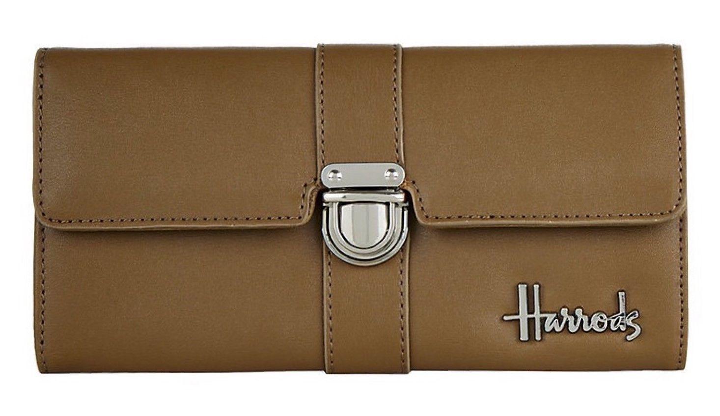 [Harrods] ハロッズ ウォレット / ノヴェッロ 財布 長財布 ロングウォレット (ライトブラウン)
