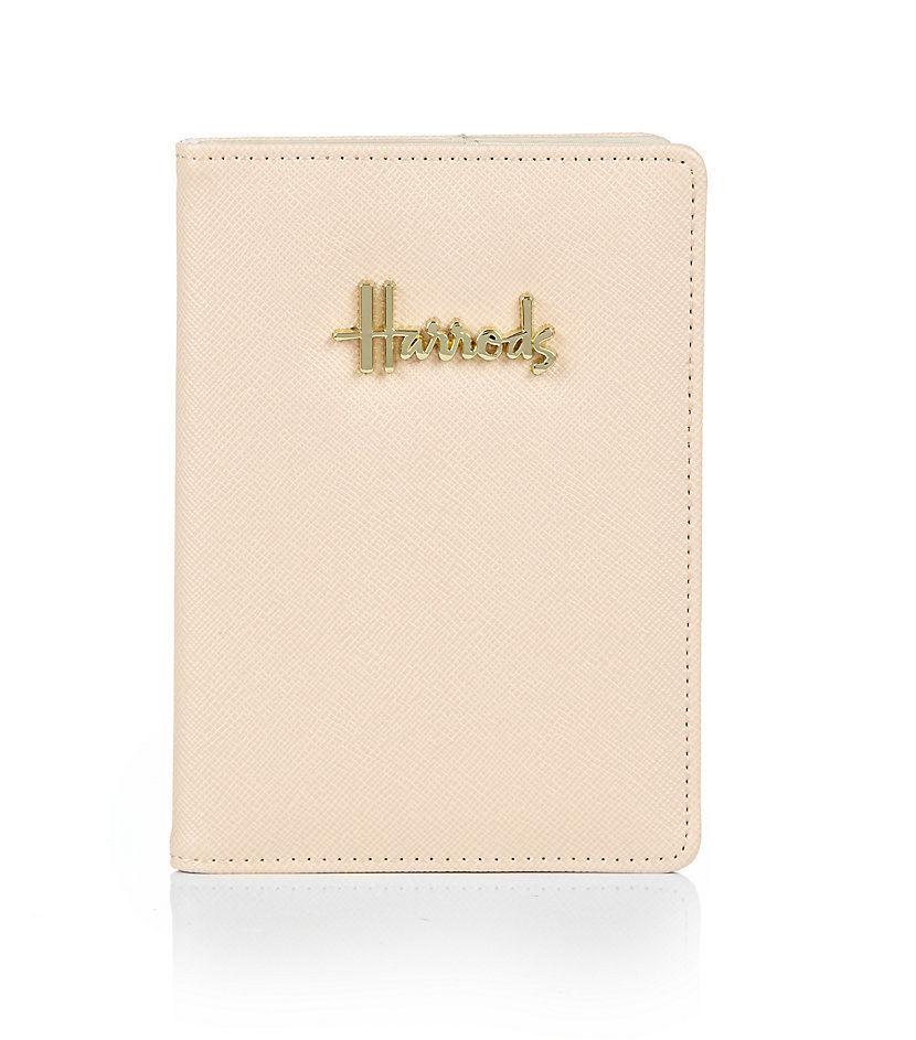 [Harrods] ハロッズ ノヴェッロ パスポートケース / カードケース パスケース (ライトブラウン)