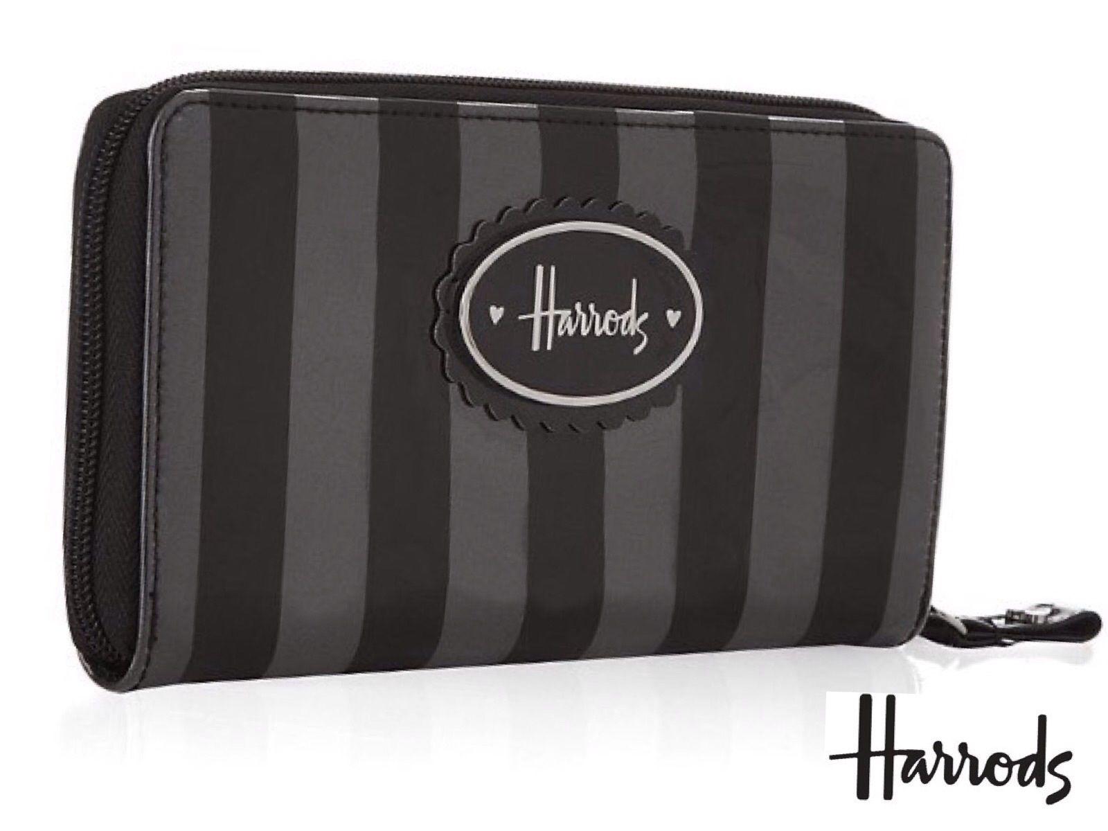 [Harrods] ハロッズ 財布 / 長財布 ウォレット 『ギルターストライプ』