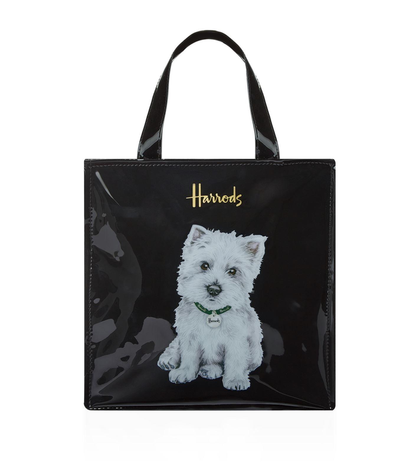 [Harrods] ハロッズ トートバッグ / ショッピングバッグ - Sサイズ  (ウェスティ / Westie PuppySmall)
