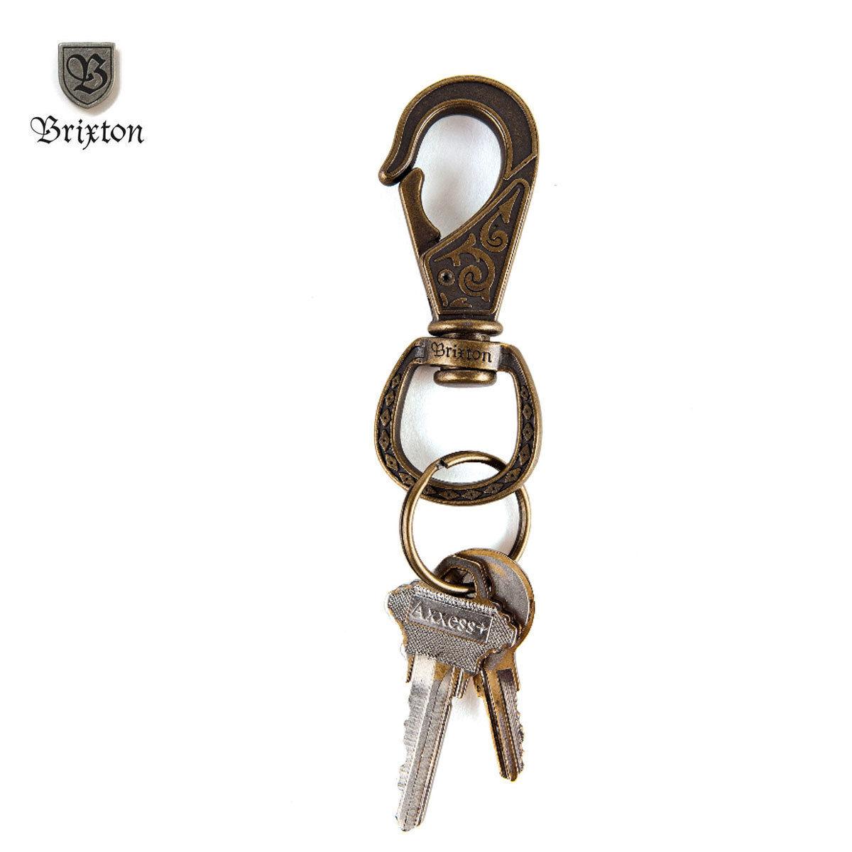 BRIXTON(ブリクストン)SCROLL キークリップ Antique Bronze