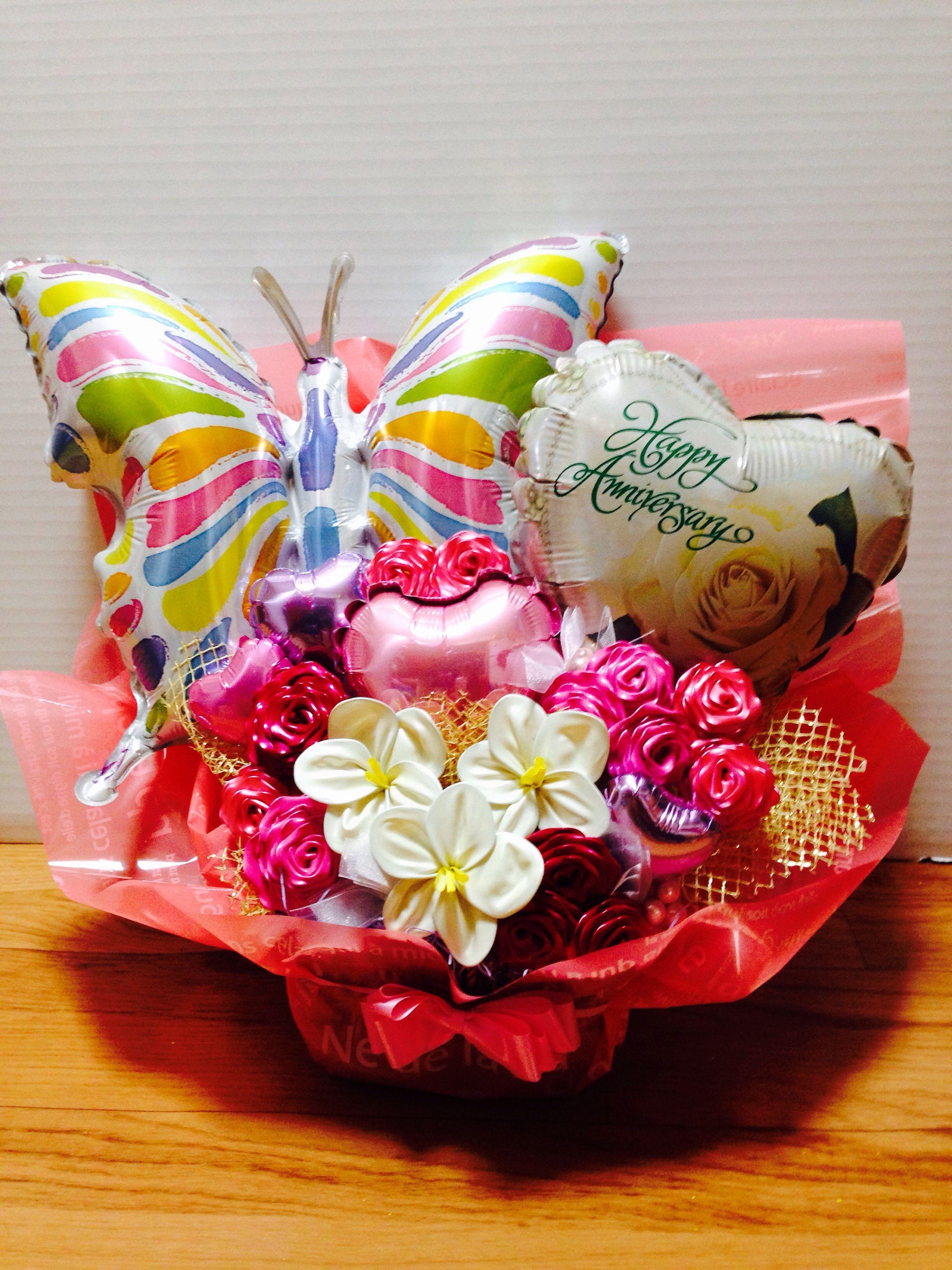 ドリームバルーンフラワーアレンジメント butterfly anniversary