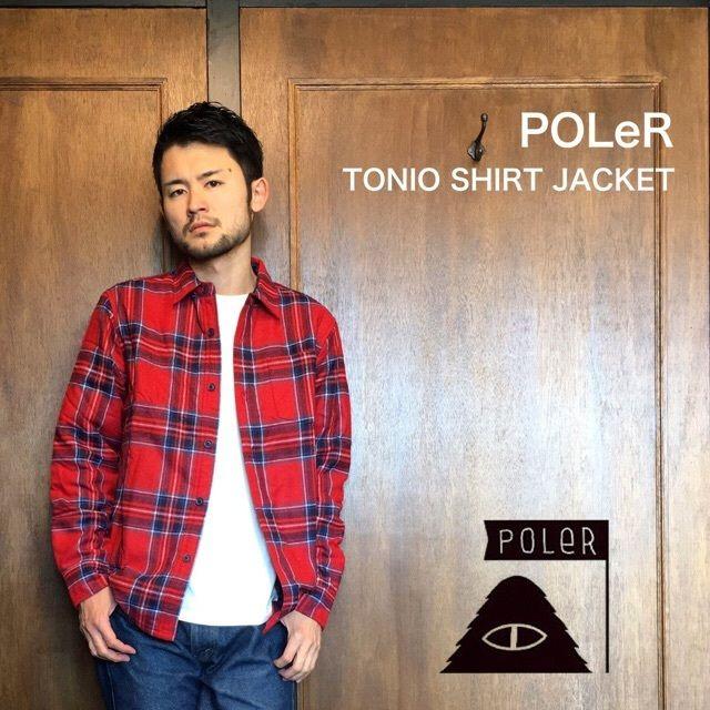 """POLeR """"TONIO SHIRT JACKET"""" Reddish"""