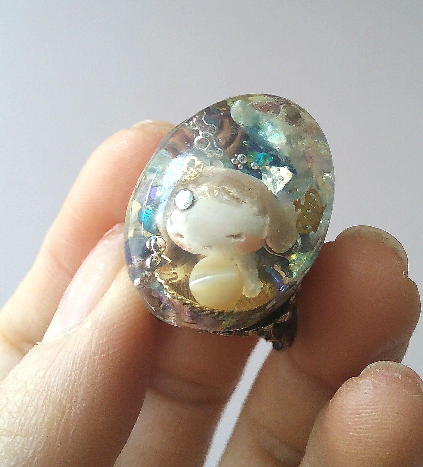 人魚姫のオルゴナイトリング