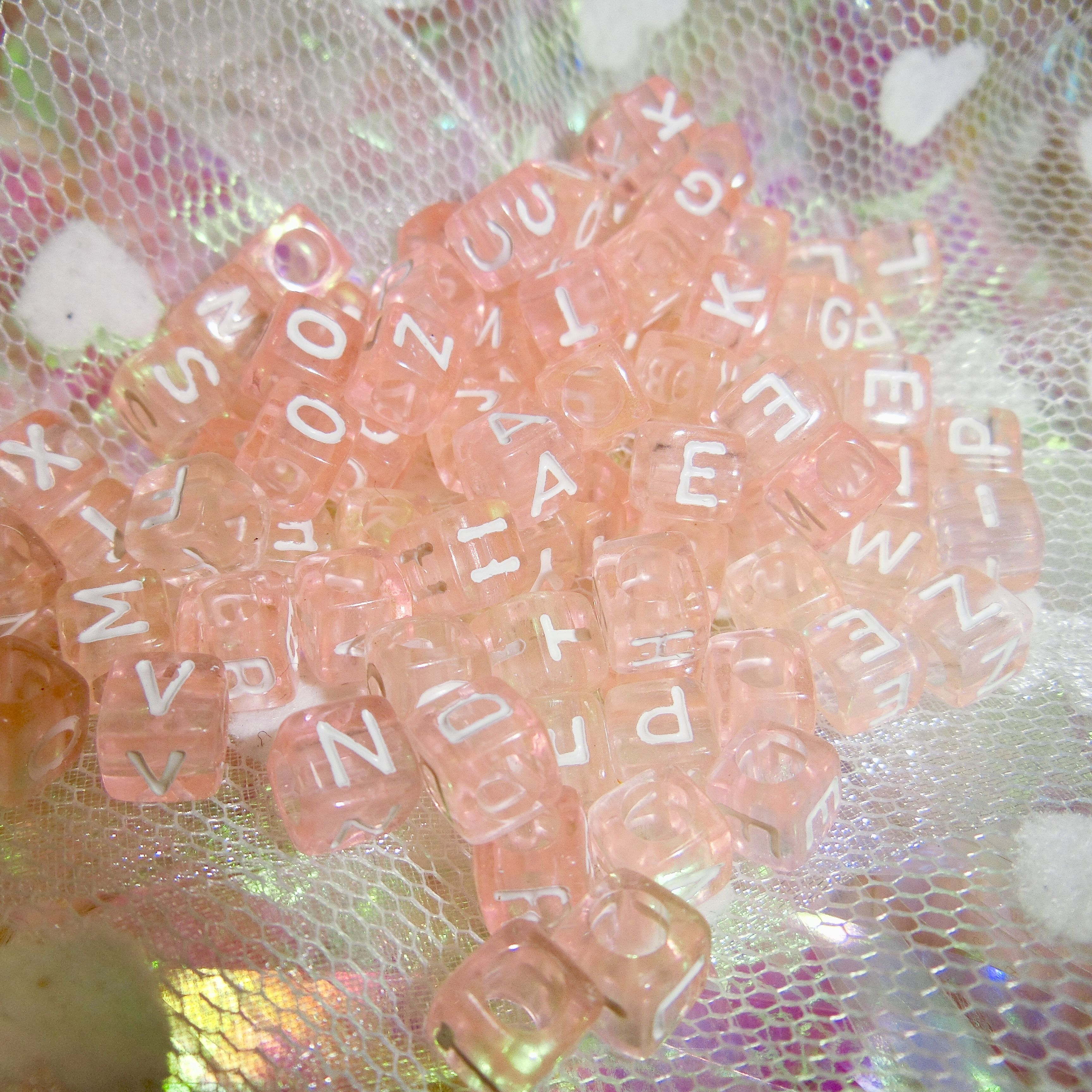 Heart Square Beads × 40pieces