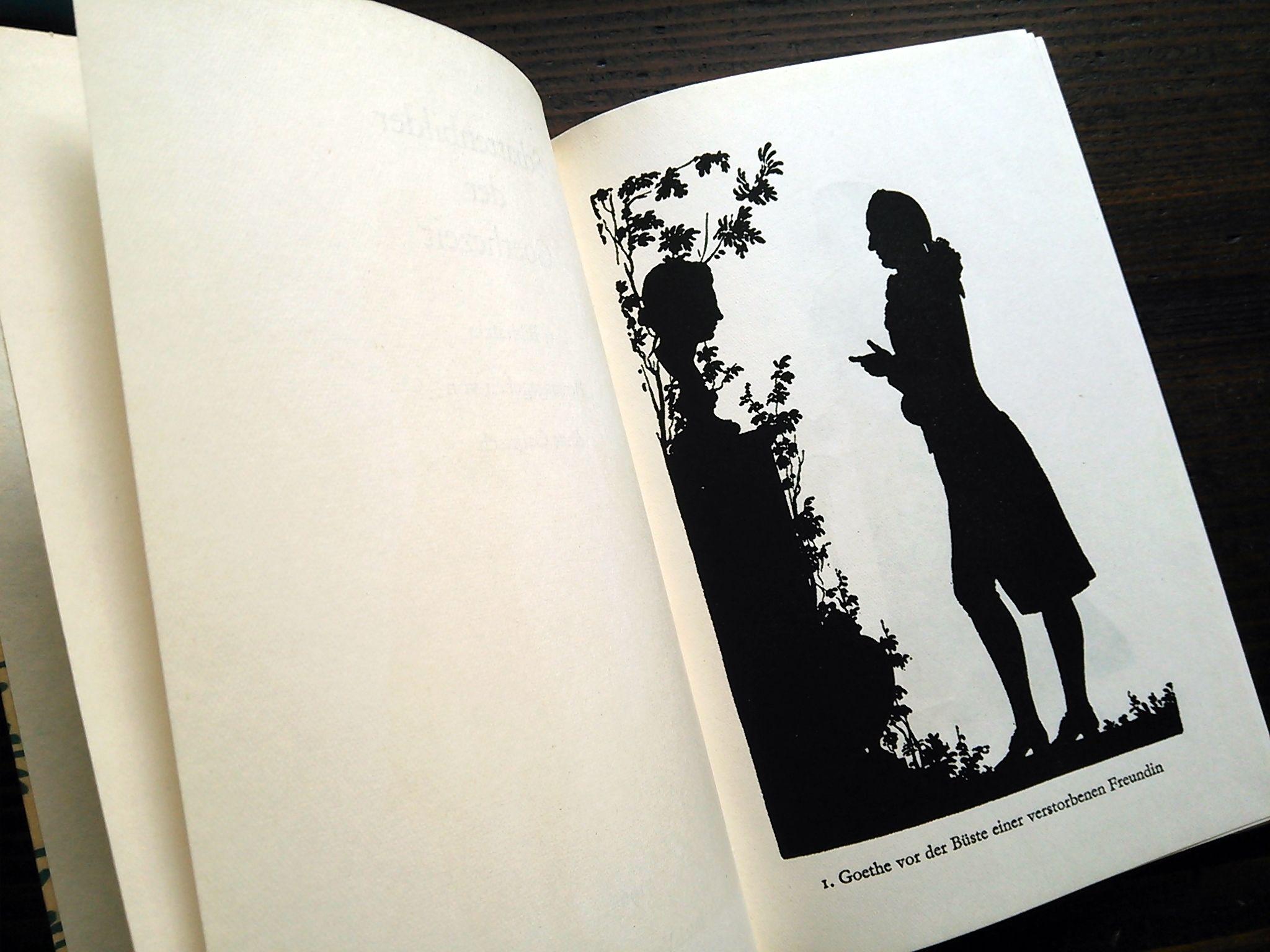 1966年ドイツ インゼル文庫Nr.565<ゲーテの時代のシルエット>◆Schattenbilder der Goethezeit