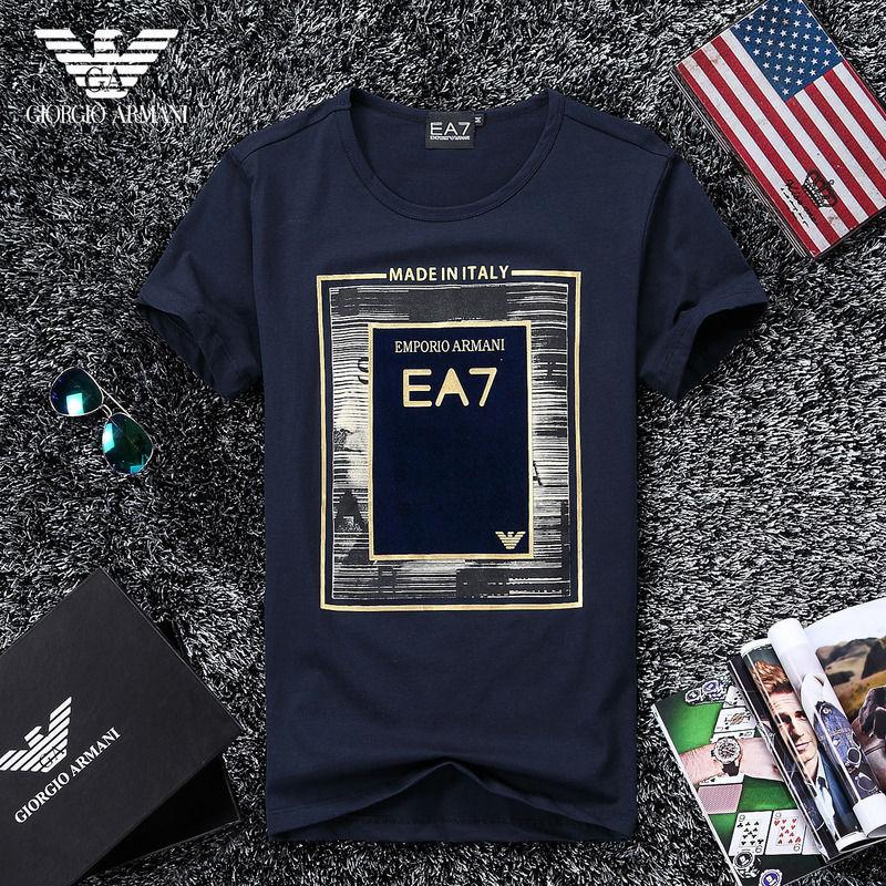 QH-45(2)★人気ブランド ARMANI アルマーニ メンズ トップス/半袖/Tシャツ 【美品】