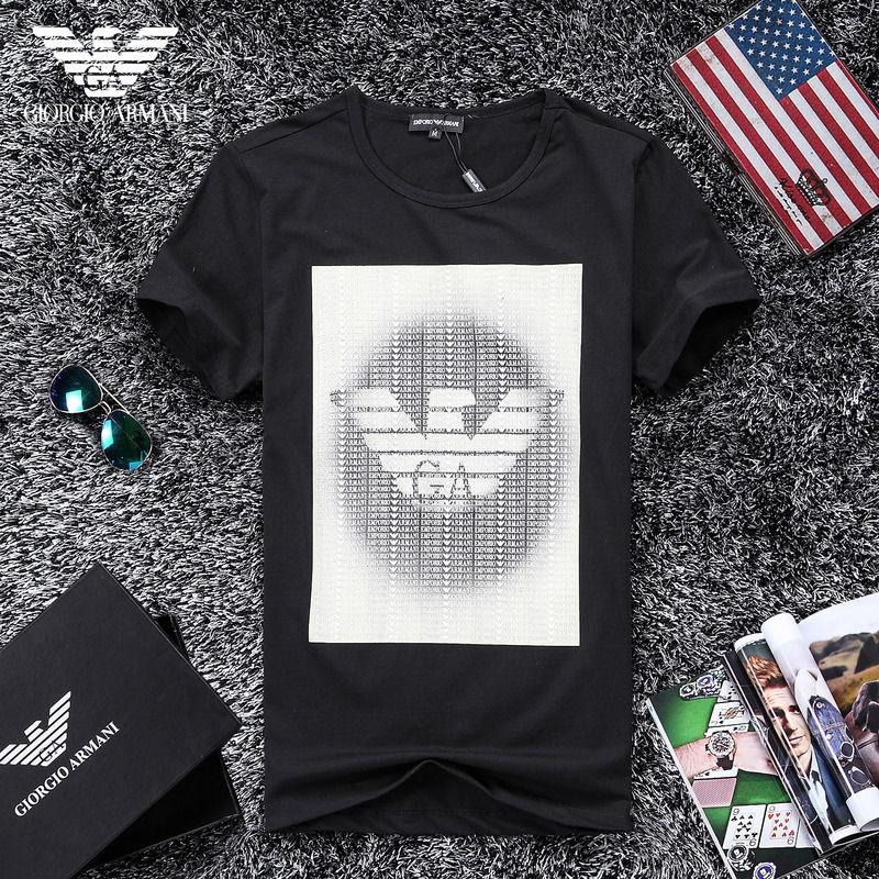 QH-51(3)★人気ブランド ARMANI アルマーニ メンズ トップス/半袖/Tシャツ 【美品】