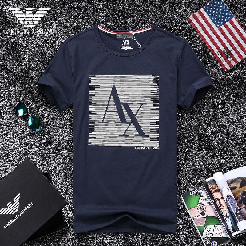 QH-54(3)★人気ブランド ARMANI アルマーニ メンズ トップス/半袖/Tシャツ 【美品】