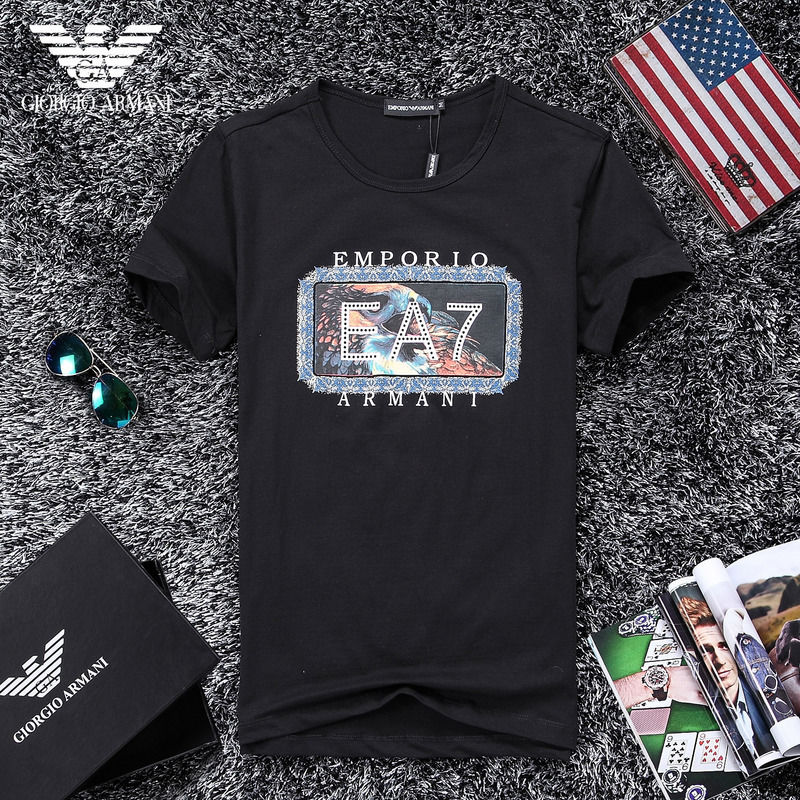 QH-47(2)★人気ブランド ARMANI アルマーニ メンズ トップス/半袖/Tシャツ 【美品】