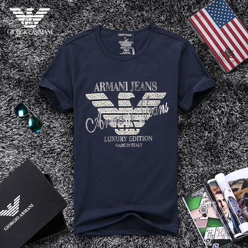 QH-53(2)★人気ブランド ARMANI アルマーニ メンズ トップス/半袖/Tシャツ 【美品】