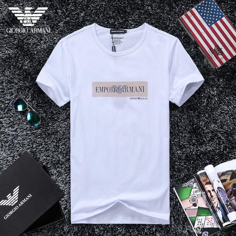 QH-49(1)★人気ブランド ARMANI アルマーニ メンズ トップス/半袖/Tシャツ 【美品】