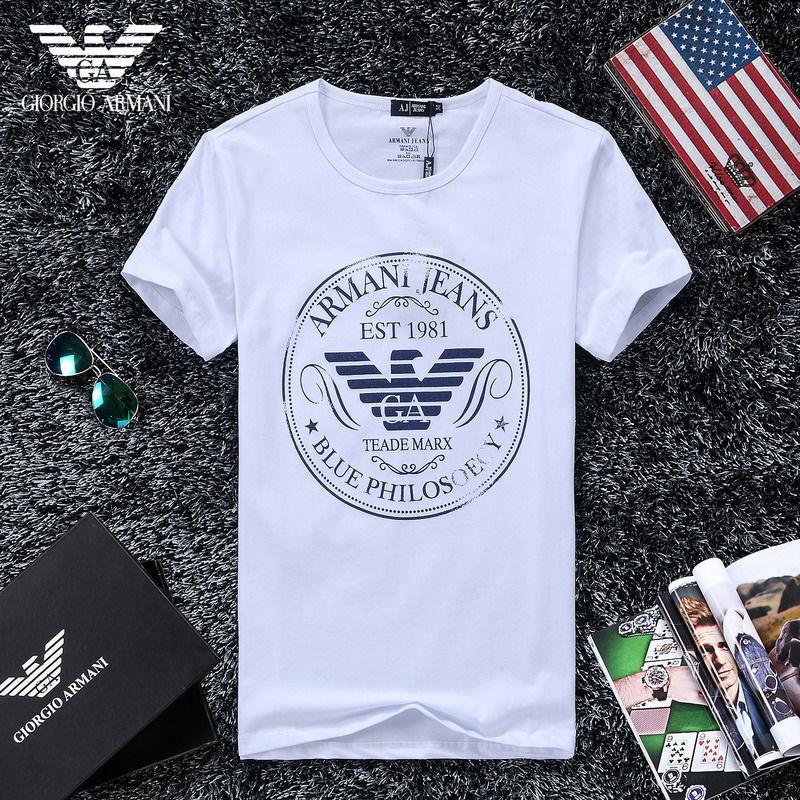 QH-46(2)★人気ブランド ARMANI アルマーニ メンズ トップス/半袖/Tシャツ 【美品】