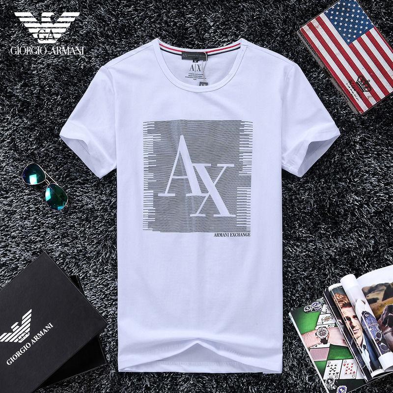 QH-54(1)★人気ブランド ARMANI アルマーニ メンズ トップス/半袖/Tシャツ 【美品】
