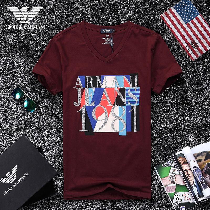 QH-52(3)★人気ブランド ARMANI アルマーニ メンズ トップス/半袖/Tシャツ 【美品】