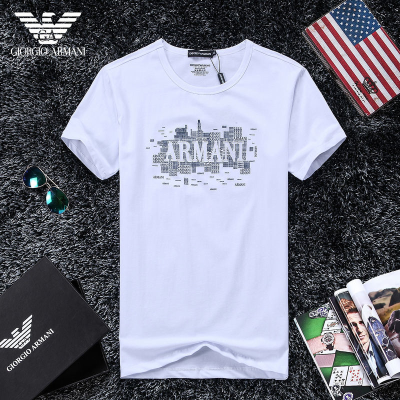QH-44(3)★人気ブランド ARMANI アルマーニ メンズ トップス/半袖/Tシャツ 【美品】