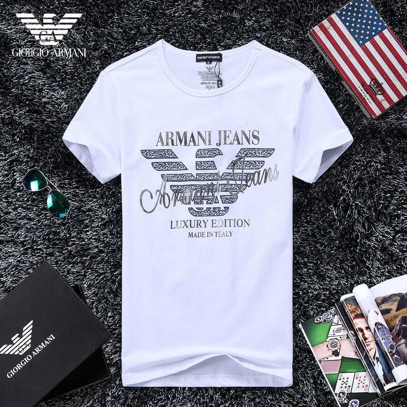 QH-53(1)★人気ブランド ARMANI アルマーニ メンズ トップス/半袖/Tシャツ 【美品】