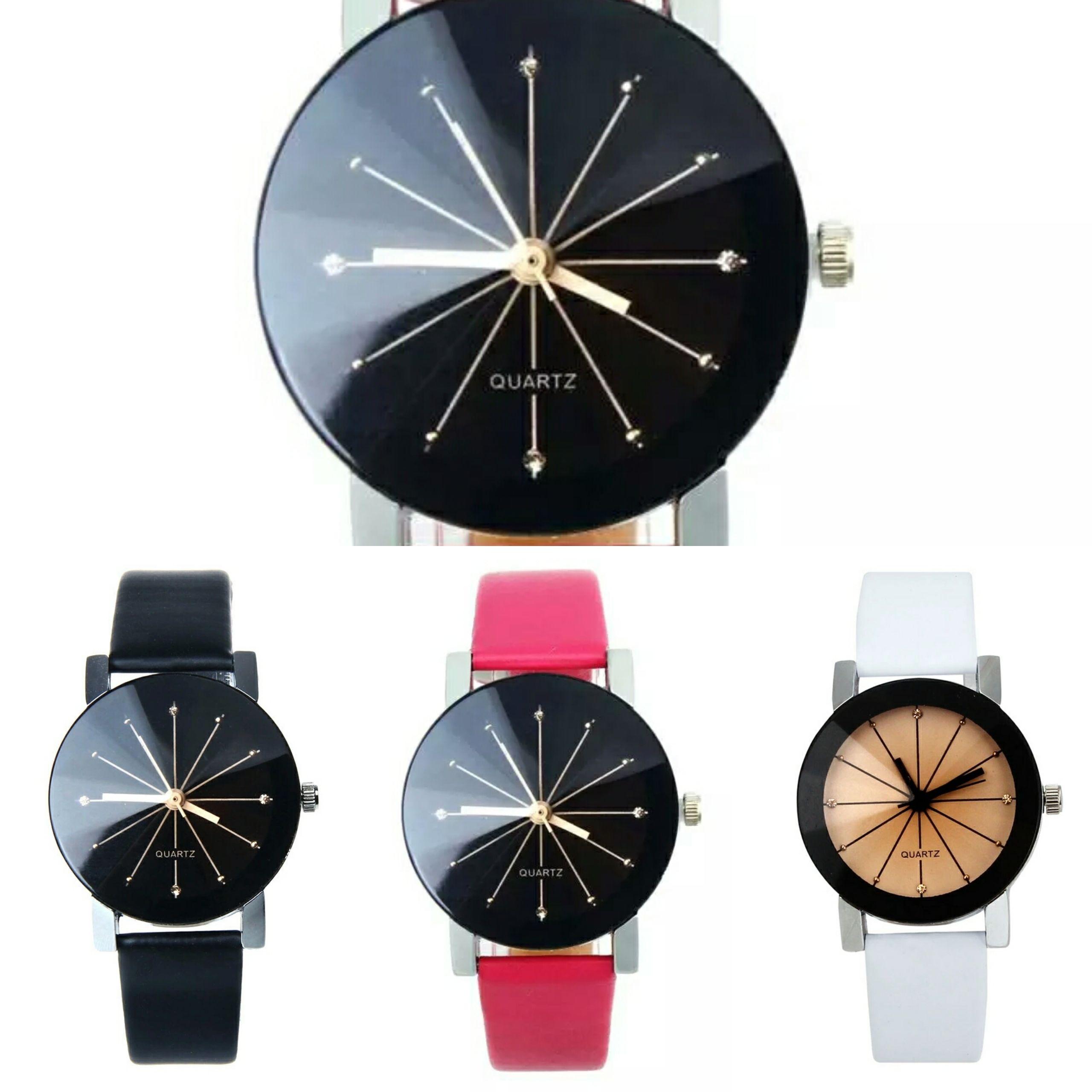 【136・137】石英ダイヤルクロッククォーツPUレザーアナログ腕時計3カラー