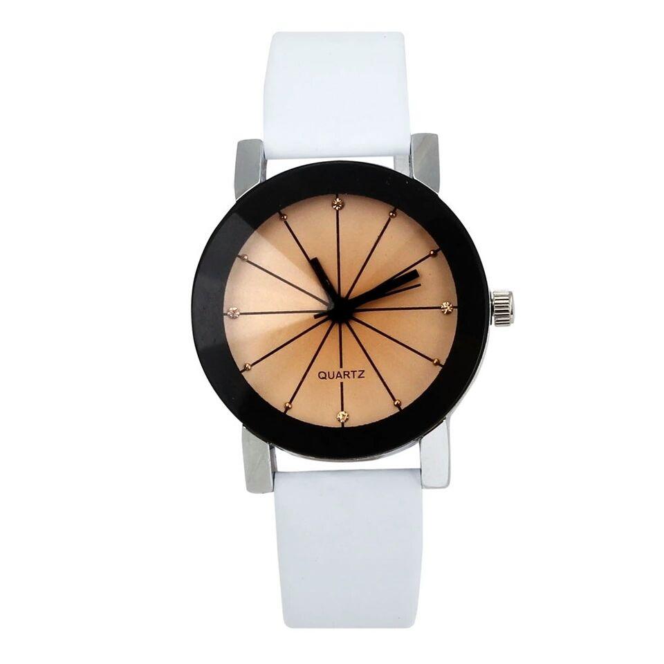【135】石英ダイヤルクロッククォーツPUレザーアナログ腕時計3カラー