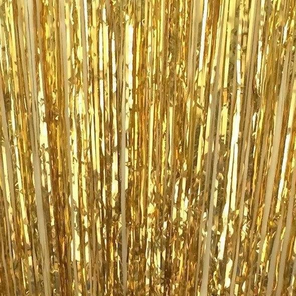 ホイルカーテン 単色 ゴールド、シルバー、ローズピンク